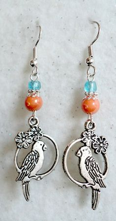 Tropical Paradise Dangle Earrings by uniquelyyours2010 on Etsy, $5.75
