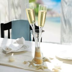 These champagne flutes are fabulous! (And the presentation really makes you feel in the moment!)