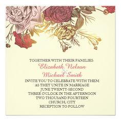 Spring Flowers Wedding Invite