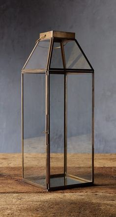 Brilliant displays for candles or other décor—the Clara glass lanterns are beautifully framed in brass, featuring a subtle, antiqued finish for added sophistication. #rusticlighting #rusticlanterns #outdoorlanterns #homedecor #decor Rustic Light Fixtures, Rustic Lighting, Brass Lantern, Log Home Living, Rustic Lanterns, Floral Curtains, Rustic Furniture, Rustic Farmhouse, Home Interior Design