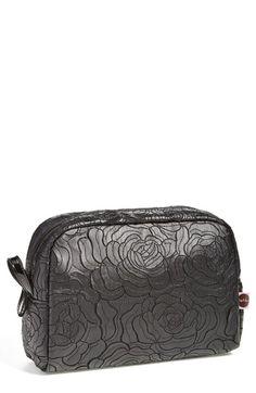 steph&co 'Black Rose - Large' Cosmetics Bag, $35.00