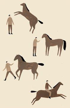 Man & Horse by Erik Riley via Kickcan & Conkers