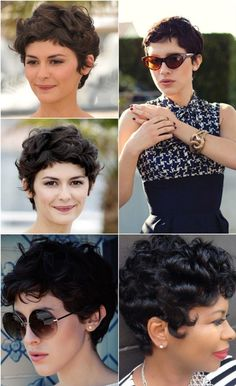 New hair cuts corto ondulado Ideas Curly Hair Cuts, Short Hair Cuts, Curly Hair Styles, Pixie Hairstyles, Pixie Haircut, Short Curly Pixie, Pixie Cut, Curly Girl, How To Make Hair