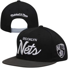 Mitchell and Ness Black Two-Tone Reflective Adjustable Hat for Men Brooklyn Basketball, Hat For Man, Brooklyn Nets, Baseball Hats, Men, Black, Baseball Caps, Black People, Caps Hats