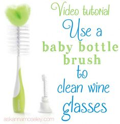 How to clean wine glasses {video tutorial} - Ask Anna