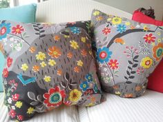 hand sewn cushions, my first attempt!