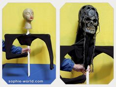 How to build a ghoul popping out of a grave for your Halloween decor!