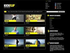 Moonfruit Template - Kick Flip #website #design
