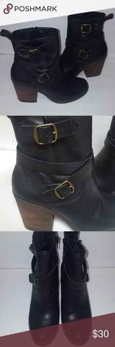 Lucky black leather boots EUC worn only couple times. Lucky Brand Shoes