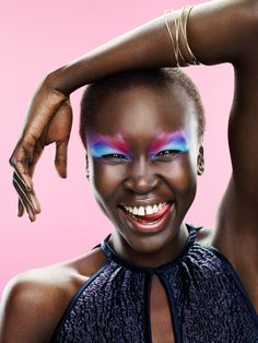 Alek Wek for Dutch Glamour August 2010 by Marc de Groot
