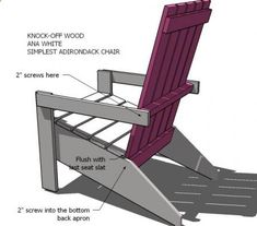 Ana White | Build a Anas Adirondack Chair | Free and Easy DIY Project and Furniture Plans
