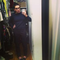 Going to put some red lips on to make this a little less masculine…#jcrew #zara #pourlavictoire #materialwrld 2/7/13