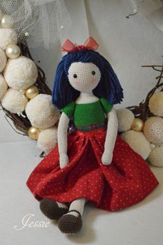 Collectible doll Elegant crochet doll child friendly ♥ by chepidolls