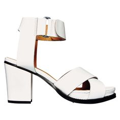 Mind Those Feet: Topshop patent-leather stacked sandals. Photo: Bobby Doherty