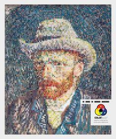 Vincent Van Gogh BRILHANT!!! by Master Roma waiteman - Flavio Waiteman and Ronilton Costa, Brasil #vicentvangogh #colorblind #art #colorisforall #social #vision #desigforall #coloradd #image #innovation #education