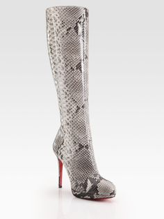 104e75835c1f Christian Louboutin - Botta Python Knee-High Boots from Saks at 150 WORTH.