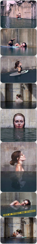 Pin By Scott Summers On My Tastes Pinterest - Artist paints incredible seaside murals balanced on surfboard