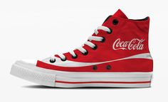 Italian designer Andrea Salamino has created a project called 'If Brands Started Making Sneakers' which imagines Converse-style footwear made by big brands such Cute Converse, Converse All Star, Tenis Tipo All Star, Coca Cola, Micro Macramé, Hand Painted Shoes, Shoe Company, Rubber Shoes, Ciabatta