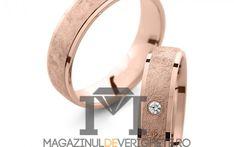 Verighete aur roz 5.5mm MDV 5045 #verighete #verighete5mm #verigheteaur #verigheteaurroz #magazinuldeverighete Aur, Watches, Leather, Diamond, Wristwatches, Clocks