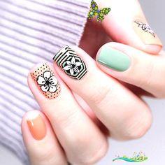 <br> Marble Nail Designs, Black Nail Designs, Winter Nail Designs, Short Nail Designs, Acrylic Nail Designs, Nail Art Designs, Nails Design, Cute Spring Nails, Summer Nails