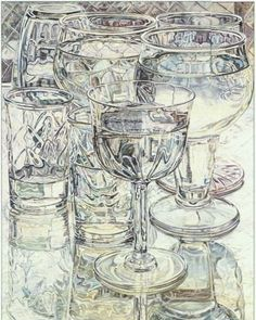 Wine and Cheese Glasses - Janet Fish