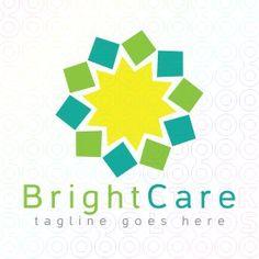 Exclusive Customizable Sun Logo For Sale: Bright Care | StockLogos.com