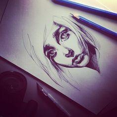 Pretty #Girl #sketch #art #pencils
