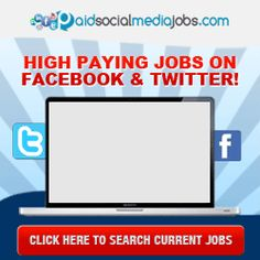 This really interesting article that explains exactly what social media jobs are and gives insider details on how you can land one yourself so that you can also get paid so to jobs on Facebook, Twitter and YouTube. There is a lot of money in this industry but the secret is getting out and more and more people are starting to get interested in these types of jobs so if you like the sound of it it is highly recommend that you check it out now before the competition gets too fierce.