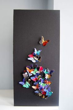 Paper Butterfly Art | www.littlehouseonthecorner.com