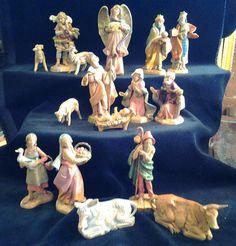 16+Piece+Vintage+Fontanini+Nativity+Set+by+BentleyandMurray,+$175.00