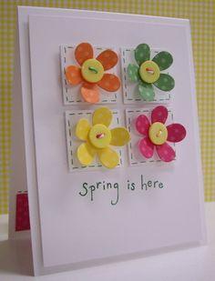 FLORECITAS COLORES botones Spring is here