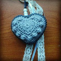 Bobble heart keychain