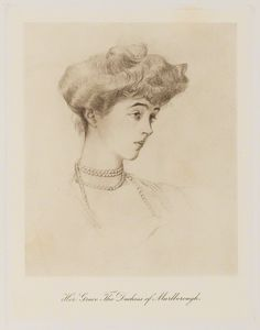 Consuelo, Duchess of Marlborough (c. 1909) published by Bassano Ltd.| Consuelo Vanderbilt, later Mme Jacques Balsan.