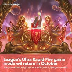 League's Ultra Rapid Fire game mode will return in October #URF #RiotGames #LeagueOfLegends #PinoyGamer
