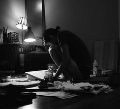 photograph of someone working hard....remaining inspired and invested in my work is so important to me. Therefore, I find images like this very inspiring.