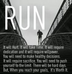 "It's so worth it! Replace the word ""run"" with your favorite exercise activity. I Love To Run, Run Like A Girl, Just Run, Fitness Motivation, Running Motivation, Fitness Quotes, Marathon Motivation, Marathon Quotes, Business Motivation"