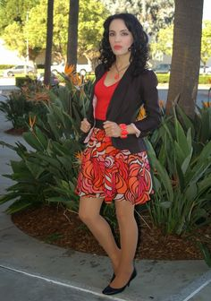Earrings by Apt. 9 Jacket by Candie's Top by Poof! Skirt by Mossimo Shoes by Issac Mizrahi Purse by Etra
