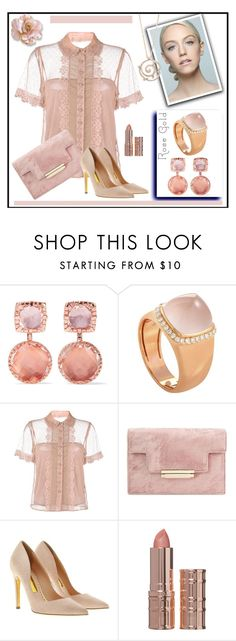 """""""a rose is a rose"""" by kleinwillwin ❤ liked on Polyvore featuring Larkspur & Hawk, Fred, RED Valentino, Rupert Sanderson, Elizabeth Arden and Fabergé"""