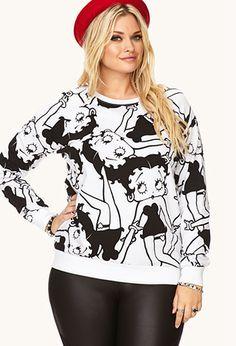 Betty Boop Sweatshirt   FOREVER21 PLUS - 2000127807