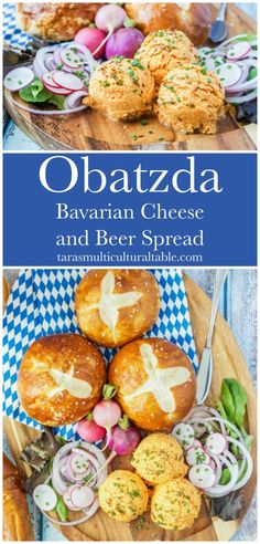 Obatzda (Bavarian Cheese and Beer Spread) - Tara's Multicultural Table #recipe #Obatzda #Bavaria #Bavarian #German #Germany #cheese #Camembert #Brie #appetizer