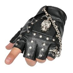 Minibee Fingerless Stud Metal Skull+chain Cycling Rock Gothic Punk Style Gloves Black Minibee http://www.amazon.ca/dp/B017OL6FFQ/ref=cm_sw_r_pi_dp_xovpwb14KTX5E
