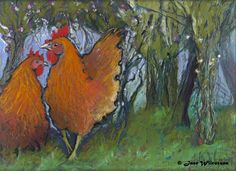 Neolithic Chickens  by Jane Wilcoxson