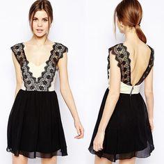 Kleid mit Spitze - Jetzt reduziert bei Lesara