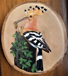 Pebble Painting, Painting On Wood, Painting & Drawing, Arte Naturalista, Wood Burning Art, Animal Sketches, Pallet Art, Bird Drawings, Wooden Art