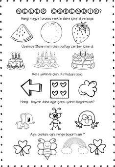 genel tekrar Preschool Kindergarten, Preschool Activities, May Themes, Doodle Quotes, Doodle Borders, Turkish Language, Free Printable Worksheets, Bullet Journal Ideas Pages, Fall Crafts For Kids