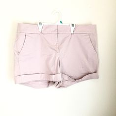 "NY&Co Blush Dress Shorts Like new! Worn only 2-3 times. Blush/khaki color. 97% cotton 3% spandex. 4"" inseam. NO TRADES. Price negotiable. New York & Company Shorts"