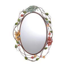 Pretty--metal hydrangea mirror