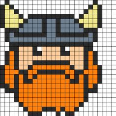 Viking Perler Bead Pattern / Bead Sprite