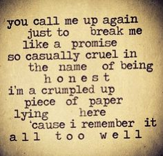 10. favourite overall lyric: THIS IS IMPOSSIBLE TO CHOOSE I LOVE THIS ONE FROM ALL TOO WELL BUT IDK IF ITS MY VERY FAVOURITE THIS IS LIKE MAKING ME CHOOSE MY FAVOURITE FROM MY NON EXISTING CHILDREN