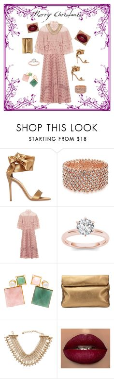 """Oh Valentino"" by viviane-shopen ❤ liked on Polyvore featuring Gianvito Rossi, Bling Jewelry, Valentino, Volha, Jigsaw and Lydell NYC"